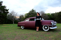 Chris McCanlies and her '54 Plymouth Plaza